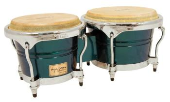Concerto Series Green Spectrum Finish Bongos: 7 inch. & 8-1/2 inch. (TY-00755129)