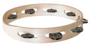 Single Row Wooden Tambourine (Dark Steel Jingles) (HL-00755740)