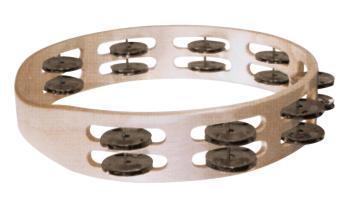 Double Row Wooden Tambourine (Dark Steel Jingles) (HL-00755742)