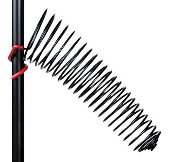 The SwirlyShtick: Drum Stick Holder for 1 inch. Tubing - Black Right-S (HL-00123405)