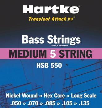 Hartke Transient Attack Bass Strings (Medium 5 String) (HR-00140190)