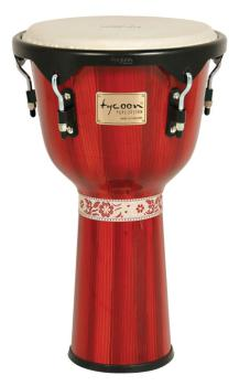 Artist Series Hand-Painted Red Finish Djembe (12 inch.) (TY-00755154)