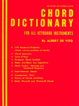 Chord Dictionary for Keyboard Instruments (Reference Book) (HL-50395920)