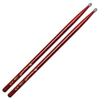 Color Wrap 5A Red Sparkle with Nylon Tip Drum Stick (HL-00256300)
