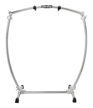 Large Curved Chrome Gong Stand (HL-00279060)