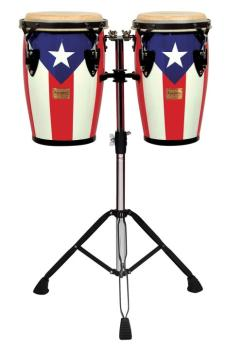 Junior Series Puerto Rican Flag Finish Congas (8 inch. & 9 inch.) (TY-00755107)