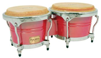 Concerto Series Red Spectrum Finish Bongos: 7 inch. & 8-1/2 inch. (TY-00755127)