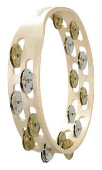 Double Row Wooden Tambourine (Bright Mixed Jingles) (TY-00755540)