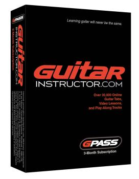 G-Pass for Guitar and Bass Players: 3-Month Subscription to Guitarinst (HL-00790330)