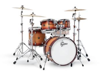 Gretsch Renown 4 Piece Drum Set (20/10/12/14) (Satin Tobacco Burst) (HL-00775873)