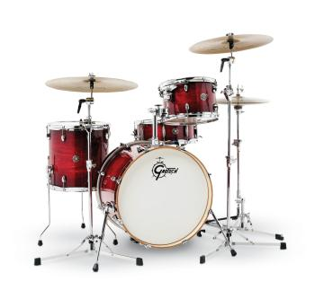 Gretsch Catalina Club 4 Piece Shell Pack (20/12/14/14SN) (Gloss Crimso (HL-00775191)