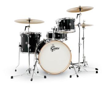 Gretsch Catalina Club 4 Piece Drum Set (20/12/14/14sn) (Piano Black) (HL-00775192)