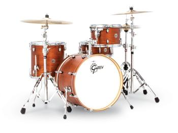 Gretsch Catalina Club 4 Piece Drum Set (20/12/14/14sn) (Satin Walnut G (HL-00775194)