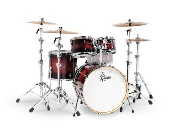 Gretsch Renown 4 Piece Drum Set (22/10/12/16) (Cherry Burst) (HL-00775883)