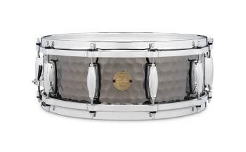 Gretsch Hammered Black Steel Snare Drum (5x14) (HL-00776422)