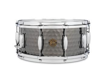 Gretsch Hammered Black Steel Snare Drum (6.5x14) (HL-00776434)