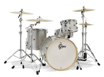 Gretsch Catalina Maple 4 Piece Shell Pack (Silver Sparkle) (HL-00776720)