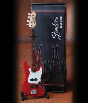 Fender(TM) Jazz Bass(TM) - Classic Red Finish: Officially Licensed Min (HL-00124406)