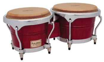 Concerto Series Red Finish Bongos: 7 inch. & 8-1/2 inch. (TY-00755123)