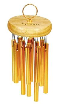 18 Gold Plated Chimes on Siam Oak Bar (TY-00755655)
