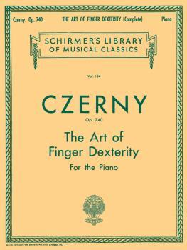 Art of Finger Dexterity, Op. 740 (Complete) (Piano Technique) (HL-50253100)