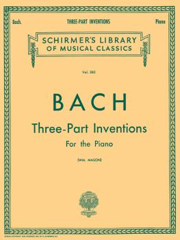 15 Three-Part Inventions: Schirmer Library of Classics Volume 380 Pian (HL-50254620)