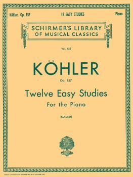 12 Easy Studies, Op. 157: Schirmer Library of Classics Volume 425 Pian (HL-50254860)