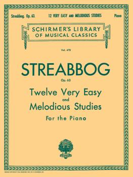 12 Very Easy and Melodious Studies, Op. 63 (Grade 1): Schirmer Library (HL-50255190)