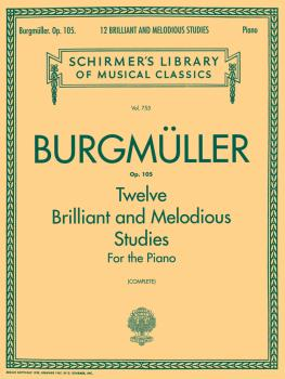 12 Brilliant and Melodious Studies, Op. 105 (Schirmer Library of Class (HL-50256180)