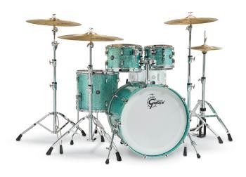 Gretsch Renown2 4 Piece Drum Set (22/10/12/16) (Turquoise Sparkle) (HL-00777738)