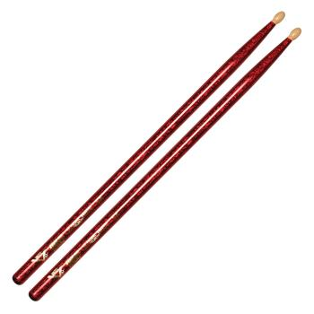 Color Wrap 5A Red Sparkle Drum Sticks (HL-00256445)
