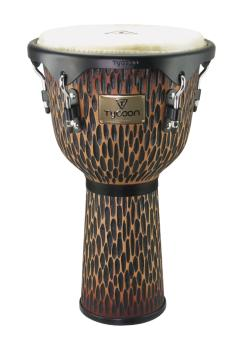 12 inch. Supremo Select Chiseled Orange Series Djembe (HL-00266960)