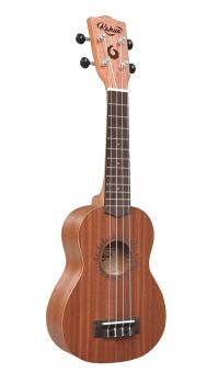 Kahua 21 Mahogany Soprano Ukulele with Sun Shape Around the Sound Hole (HL-00262840)