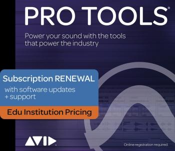 Pro Tools - 1-Year Subscription Renewal: Institutional Edition - 1-Yea (HL-00249808)