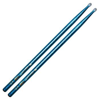 Color Wrap 5A Blue Sparkle Nylon Tip Drum Sticks (HL-00261740)