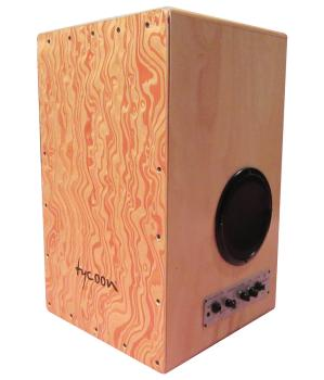 29 Series Gig Box Cajon - Siam Oak with Hand Painted Front Plate (Mode (HL-00232720)