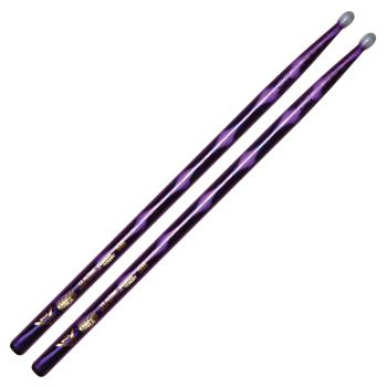 Color Wrap 5B Purple Optic Drum Sticks (with Nylon Tips) (HL-00261757)