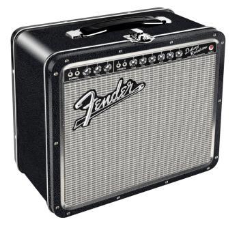 Fender Black Tolex Metal Lunch Box (HL-00121852)