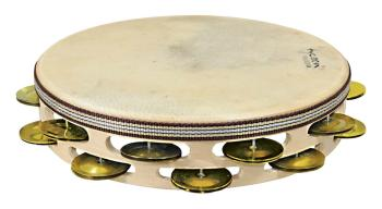 Double Row Headed Wooden Tambourine (Bright Brass Jingles) (HL-00755544)