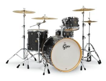 Gretsch Catalina Maple 4 Piece Shell Pack (22/12/16/14) (Black Stardus (HL-00286445)