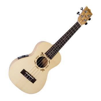 Flight DUC525 CEQ SP/ZEB Electro-Acoustic Concert Ukulele (HL-03715014)