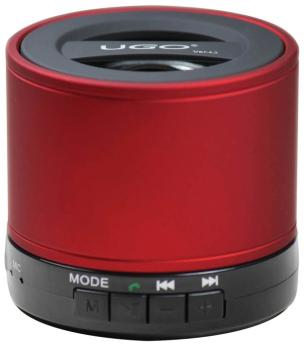 Bluetooth Wireless Mini Speaker: Red Portable Speaker with SD Card For (UG-00129176)