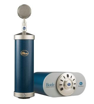 Bottle Microphone System with SKB Case: Custom Hammer-Tone Blue (HL-00323298)