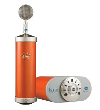 Bottle Microphone System with SKB Case: Custom Hot Rod Orange (HL-00323299)