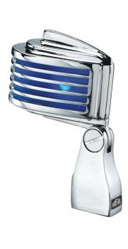 The Fin - Chrome Body/Blue LED: Retro-Styled Dynamic Cardioid Micropho (HL-00364930)