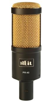 PR40 - Black/Gold: Large Diameter Studio Microphone with Black Body &  (HL-00365002)