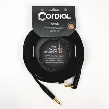 Premium Instrument Cable with Gold Connectors: Peak Series - 1/4 inch. (HL-03719672)