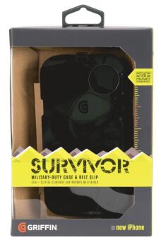 Survivor for iPhone 5/5S: Military-Duty Case - Black (GR-00123991)