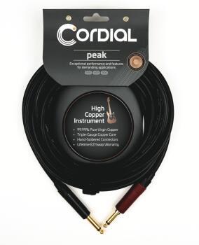 Premium Instrument High-Copper Silent Plug Cable: Peak Series - 1/4 in (HL-03719670)