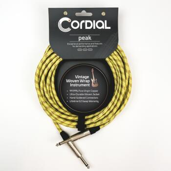 Premium Instrument Cable with No-Fray Sleeve: Peak Series - 1/4 inch.  (HL-03719692)